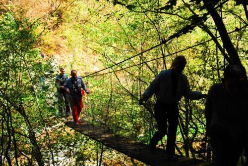 Въжен мост към пещера Голубовица